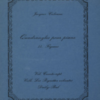 Quadrangles pour piano : Tome II : Figures / Jacques Calonne